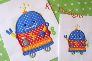 Robot Carpet Cleaner Robots & Space Embroidery Design By karen50