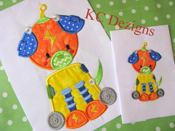 Robot Dog Robots & Space Embroidery Design By karen50