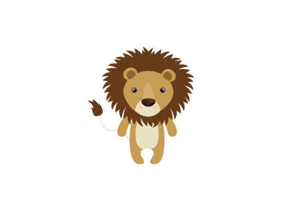 Kids Coloring Animal Lion Vector Graphic Coloring Pages & Books By vijackstudio