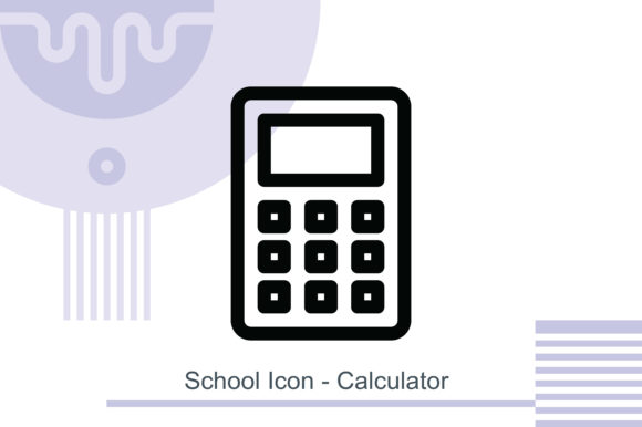 School Icon - Calculator Graphic Icons By MelindAgency