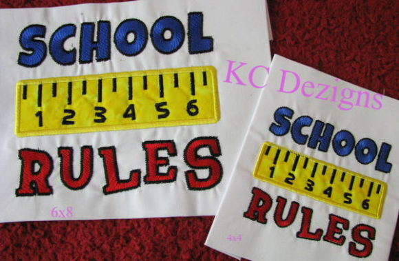 School Rules Embroidery