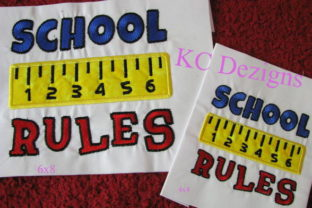 School Rules Back to School Embroidery Design By karen50