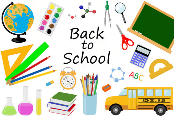 Set Back to School Vector Illustration Graphic Illustrations By shishkovaiv