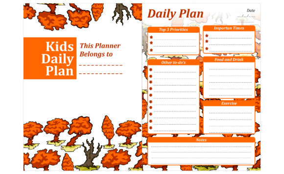 Print on Demand: Simple KDP with Autumn Tree Theme Graphic Crafts By Arief Sapta Adjie