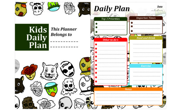 Print on Demand: Simple KDP with Halloween Monster Theme Graphic Crafts By Arief Sapta Adjie