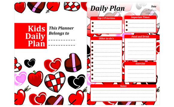 Print on Demand: Simple KDP with Love Valentine Theme Graphic Crafts By Arief Sapta Adjie