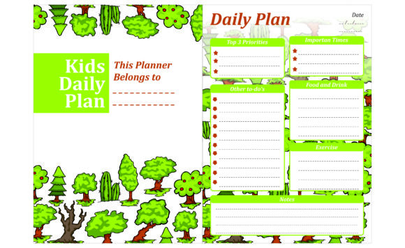 Print on Demand: Simple KDP with Tree and Cactus Theme Graphic Crafts By Arief Sapta Adjie
