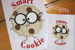 Smart Cookie Boy Back to School Embroidery Design By karen50