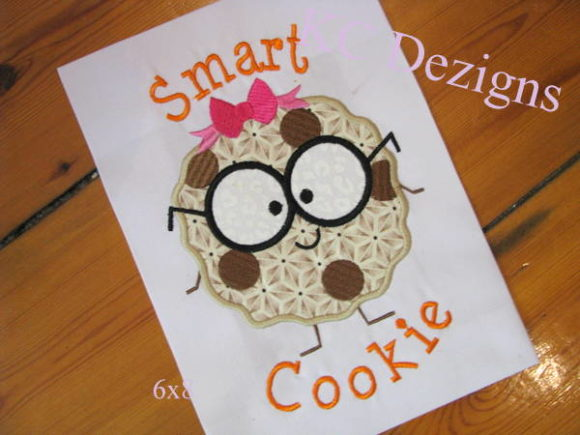 Smart Cookie Girl Back to School Embroidery Design By karen50 - Image 1