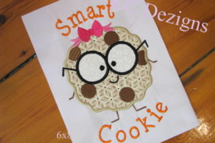 Smart Cookie Girl Back to School Embroidery Design By karen50