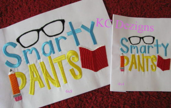 Smarty Pants Back to School Embroidery Design By karen50