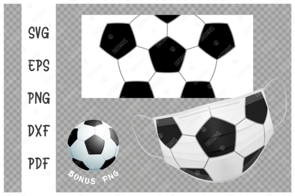 Soccer Ball Background for Face Mask Graphic Crafts By Natariis Studio
