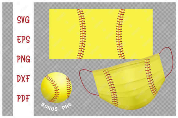 Softball Ball Background for Face Mask Graphic Crafts By Natariis Studio