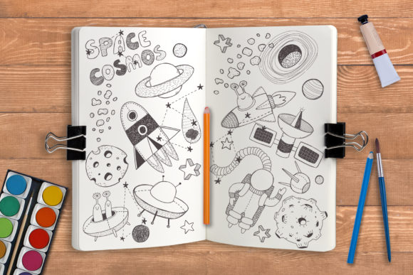 Space Objects Collection Graphic Image
