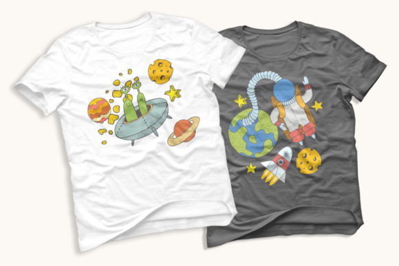Space Objects Collection Graphic Design Item