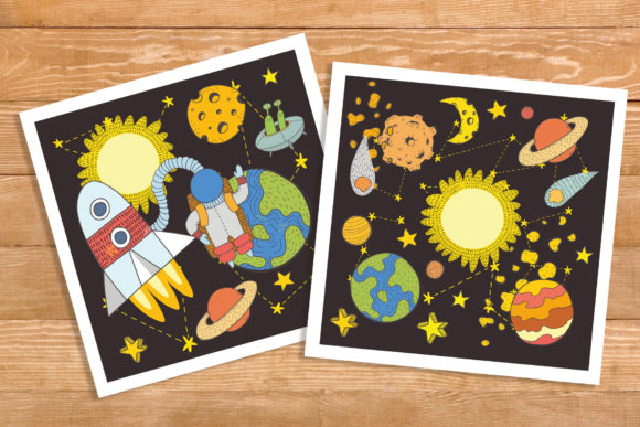 Space Objects Collection Graphic Downloadable Digital File