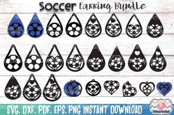 Sport Soccer Earring Template Bundle Graphic Crafts By Timetocraftshop