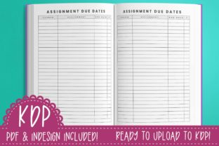 Print on Demand: Student Planner Undated Graphic KDP Interiors By planfantastic 4