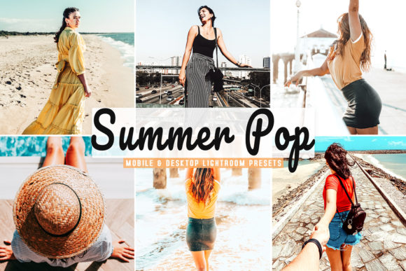 Print on Demand: Summer Pop Pro Lightroom Presets Graphic Actions & Presets By Creative Tacos