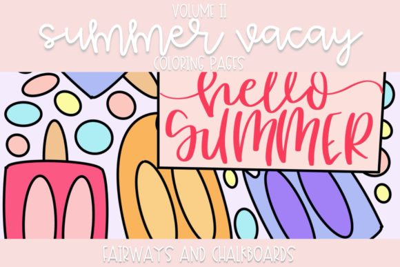 Summer Vacay Coloring Pages Graphic Coloring Pages & Books By Fairways and Chalkboards