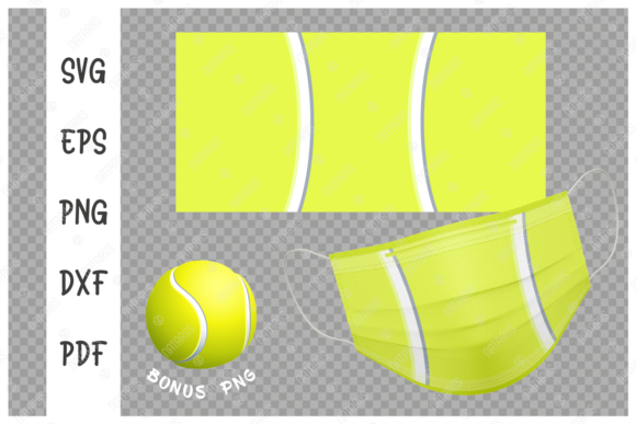 Tennis Ball Background for Face Mask  Graphic Crafts By Natariis Studio
