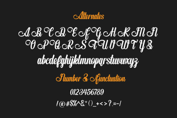 The Butterplay Font Image