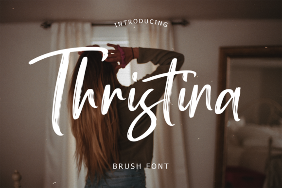 Print on Demand: Thristina Script & Handwritten Font By formatikastd
