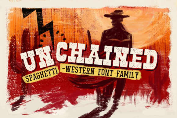 Print on Demand: Unchained Display Font By vintagevoyageco