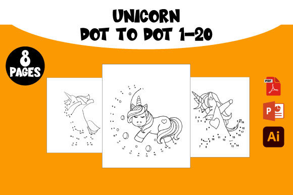 Print on Demand: Unicorn Dot to Dot Count to 20 Graphic KDP Interiors By AZ DESIGNS