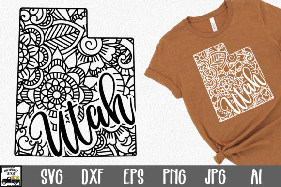 Print on Demand: Utah State Mandala Graphic Crafts By oldmarketdesigns