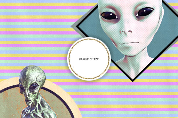 Print on Demand: Vintage Style Aliens & Space Backgrounds Graphic Backgrounds By Sabina Leja - Image 4
