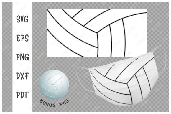 Volleyball Ball Background for Face Mask Graphic Crafts By Natariis Studio