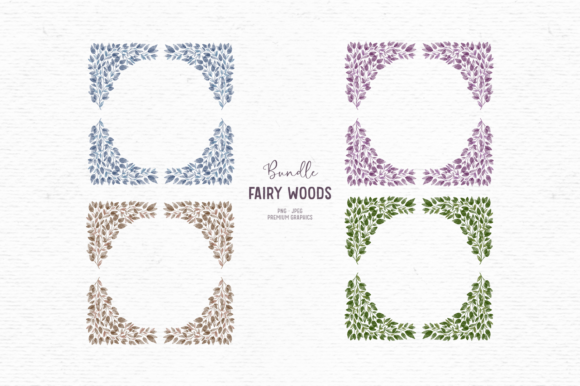 Print on Demand: Watercolor Greenery Clipart Bundle Graphic Illustrations By Wallifyer