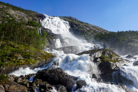 Print on Demand: Waterfall in Norway Graphic Nature By PrettyDD