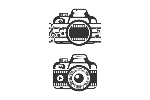 Camera Video Music Silhouette Vector Graphic Logos By hartgraphic