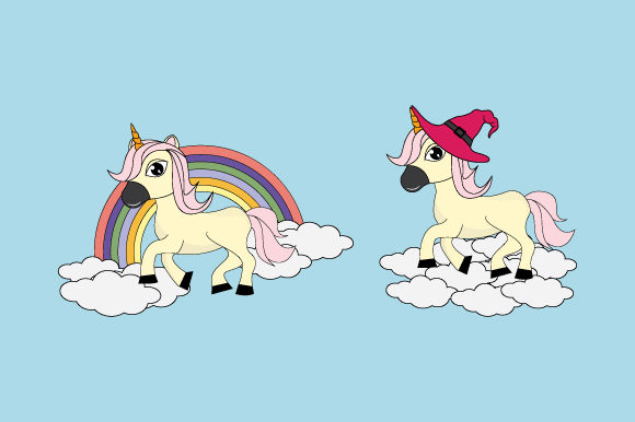 Print on Demand: Cute Unicorn Graphic Illustrations By curutdesign
