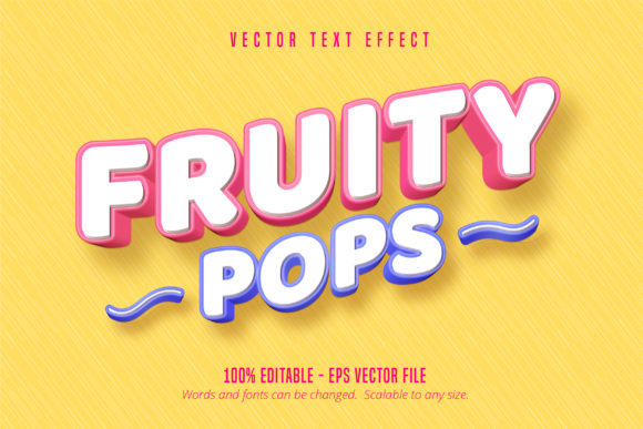 Print on Demand: Pastry Style Editable Font Effect Graphic Graphic Templates By Mustafa Bekşen