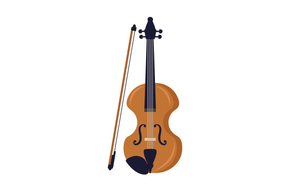Violin Music Craft Cut File By Creative Fabrica Crafts