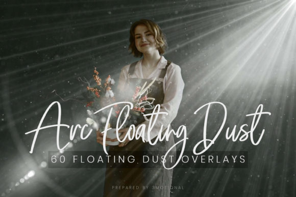 Print on Demand: 60 Floating Dust Flare Overlays Graphic Backgrounds By 3Motional