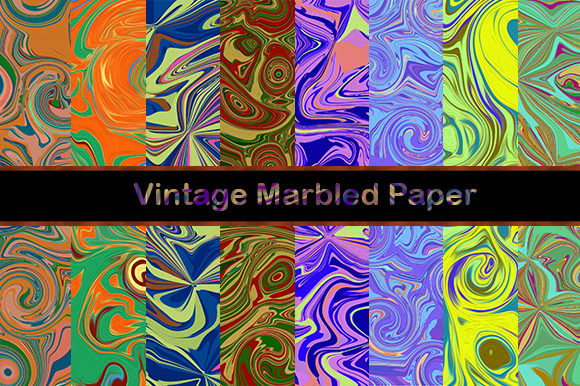 Abstract Vintage Marbled Textures Graphic Textures By sugamiart