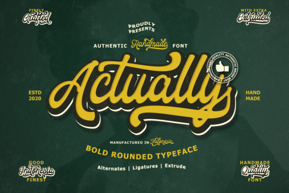 Print on Demand: Actually Script & Handwritten Font By Ijem RockArt