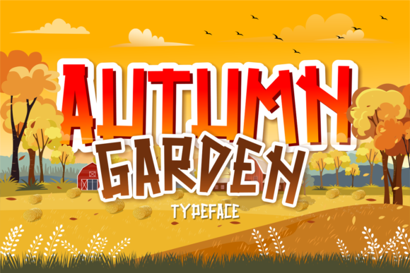 Print on Demand: Autumn Garden Display Font By brithostype