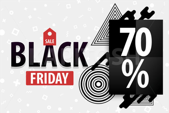 Black Friday Sale Card Red Promo Tag Graphic By Kapitosh Creative Fabrica