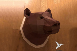 Brown Bear Head - PaperCraft - DIY Graphic Patterns By birdgami