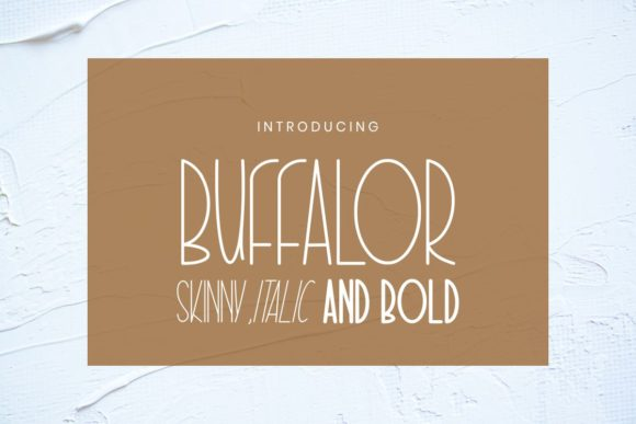 Print on Demand: Buffalor Sans Serif Font By Pidco.art