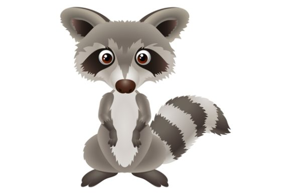 Cartoon Raccoon Graphic Illustrations By maskin