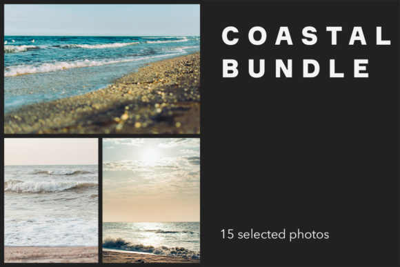 Print on Demand: Coastal Bundle, 15 Photos Graphic Nature By frostroomhead