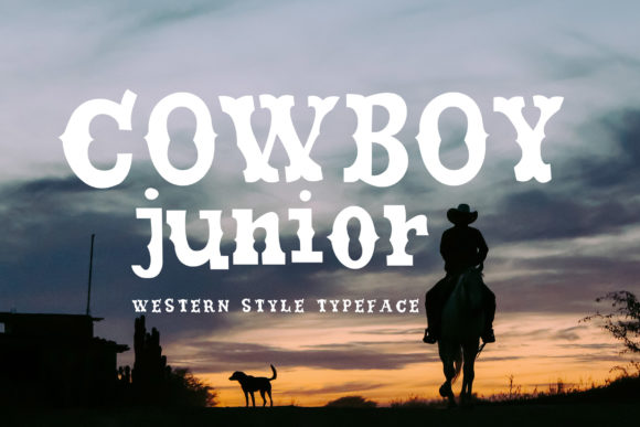 Print on Demand: Cowboy Junior Display Font By Alit Design