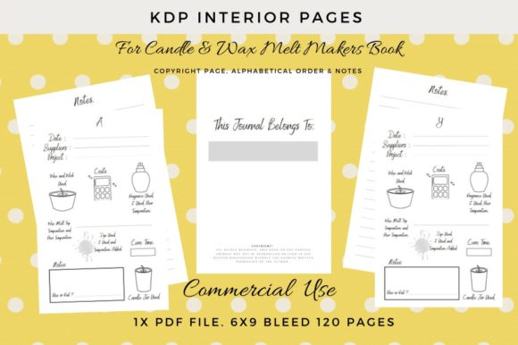 Print on Demand: KDP Interior Pages for Candle Makers Graphic KDP Interiors By Simpsys Designs