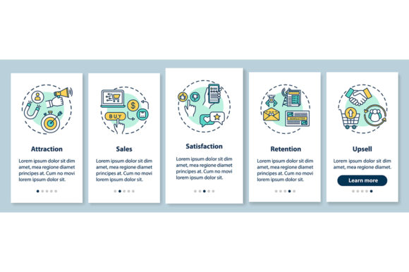 Print on Demand: Customer Attraction and Retention Graphic Web Elements By bsd studio
